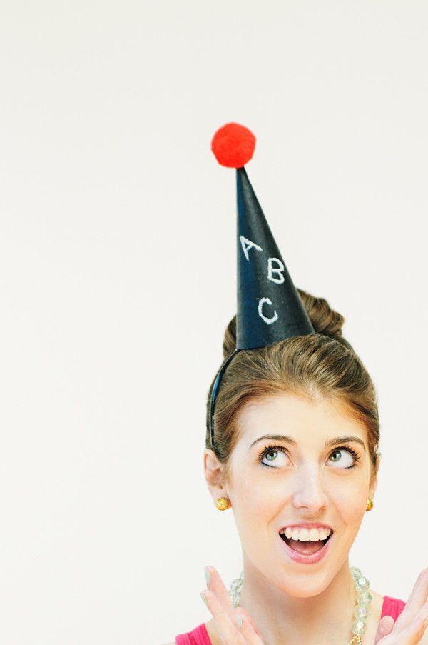 DIY Chalkboard Party Hat