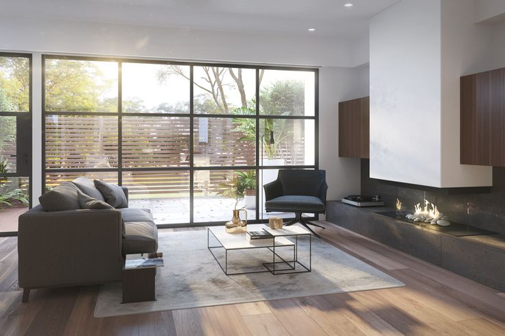Kemlan Horizon fireplace, joinery to lounge
