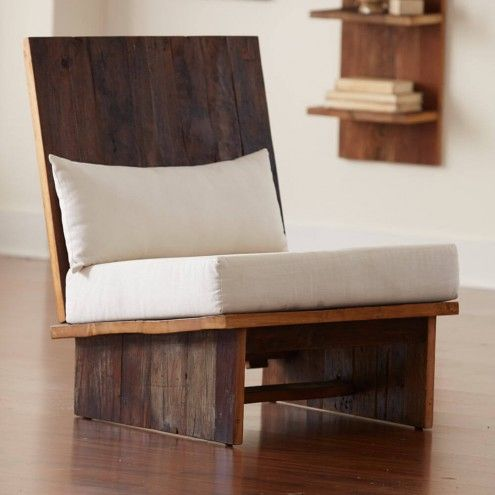 Reclaimed Elmwood Contemporary Chair | VivaTerra