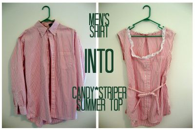 Men's Shirt Refashion: The Candy Striper. Tuesday, June 19, 2012. glasshufffull.blogspot.com
