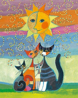 Cats under the sun... ♥♥♥ Gatos sob o sol...