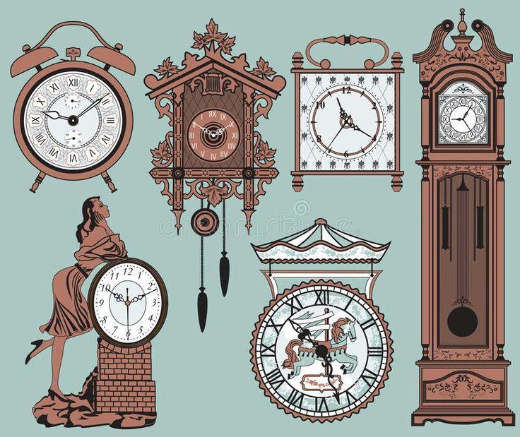 Pin by alma on clip art Clock, Vintage clock, Antique clocks