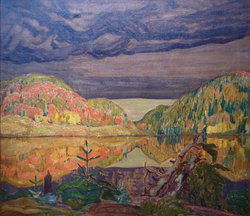 """October Shower Gleam,"" J. E. H. MacDonald, oil on canvas, 41.5 x 47.5"", Hart House Permanent Collection, University of Toronto."