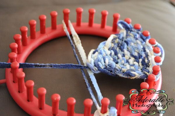 Loom Knit Baby Hat With Ear Flaps : Knifty knitter newborn earflap tutorial baby hats mom