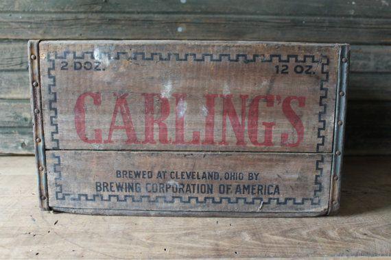 Carling's beer crate