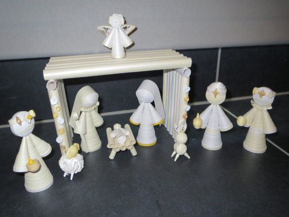 Complete quilling nativity scene all in paper A by Anorigana