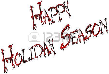Happy Holiday Season written on white background
