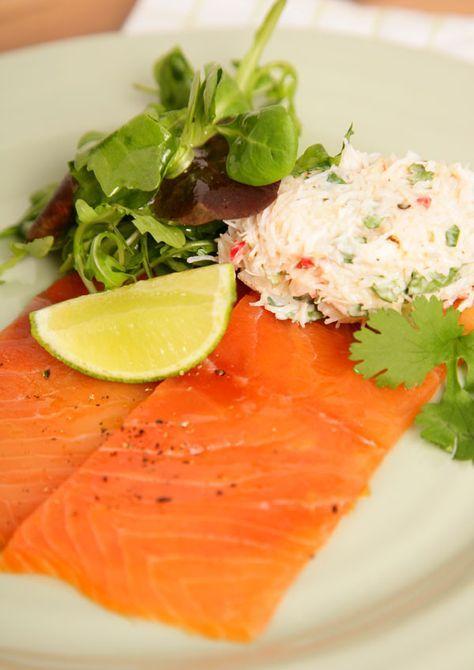 Chilli Crab Salad with Smoked Salmon