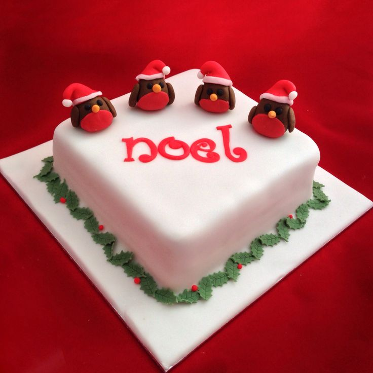 Christmas Cake Ideas Robin : 17 best images about Christmas cakes on Pinterest ...