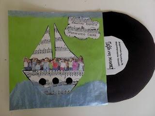 Προσκληση Ταξίδι με τη μουσική  music invitation craft