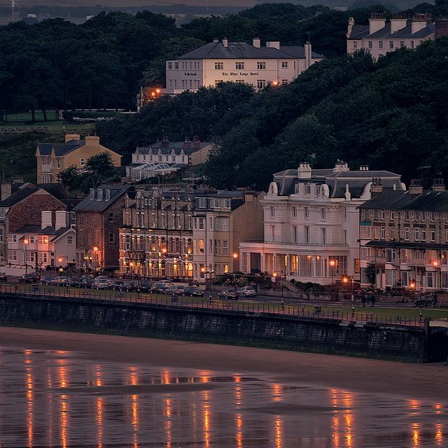 Filey at dusk by Tony McLean, via Flickr