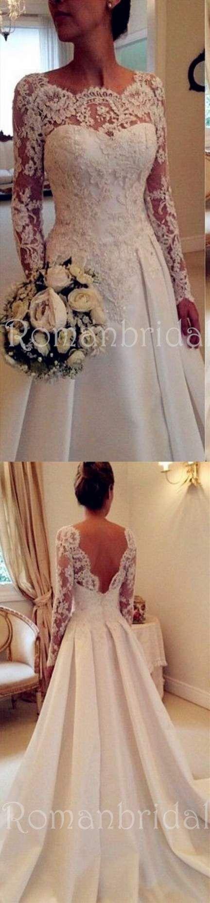 Best dress wedding open backs lace long sleeve 62+ Ideas
