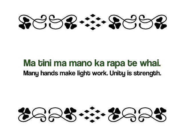 A whakatauki - Maori Proverb