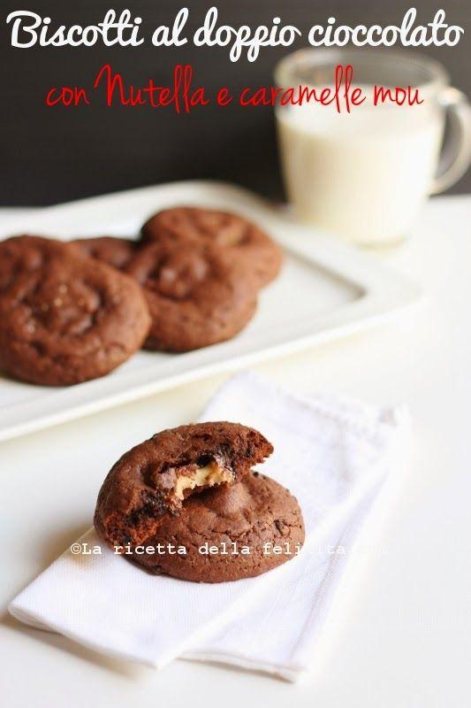 La ricetta della felicità: Biscotti al doppio cioccolato con Nutella e caramelle mou per il Gluten Free(fry)Day