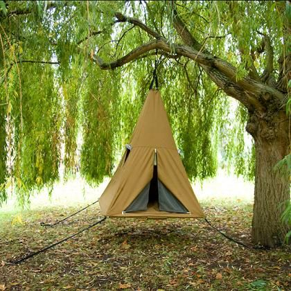 """Quoted from the official website: """"It's a tent... it's a bouncy castle... it's a swing... it's a trampoline! Welcome to the wonderful world of Treepee!"""" - wow how cool!!!: Funny Inventions, Idea, Trees Tent, Trees Houses, Kids Tent, Treehouse, Tent Camps, Funny Photos, Trees Swings"""