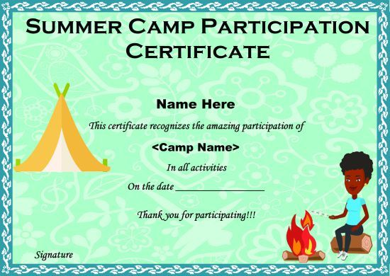 Summer Camp Certificate Templates: 15+ Templates to