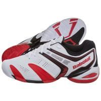 BABOLAT VPRO 2 CLAY WHITE & RED TENNIS SHOES