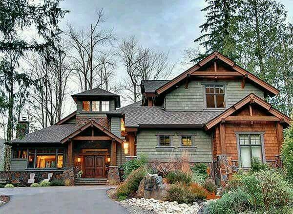 Best 25 log homes exterior ideas on pinterest log home for Craftsman log homes