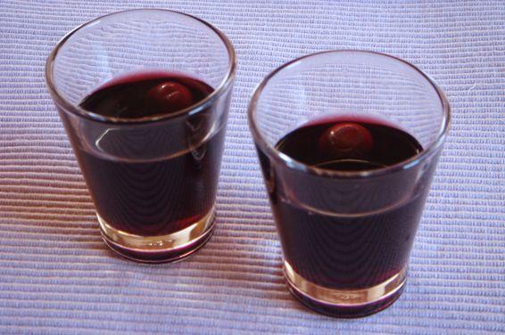 Sour Cherry Liqueur - Ginginha, a recipe on Food52