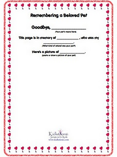 Helping kids cope with pet loss #pdf #printable #grief #free