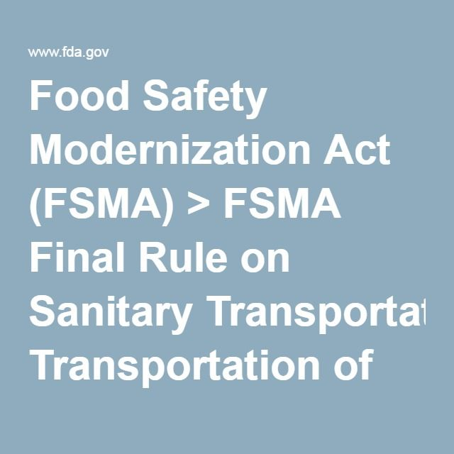 Food Act and Food Standards Code