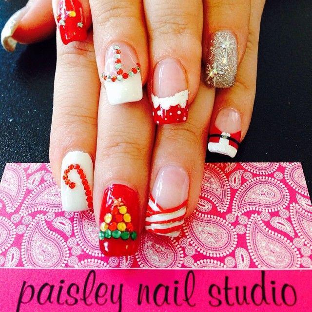 christmas by pinknailgal #nail #nails #nailart