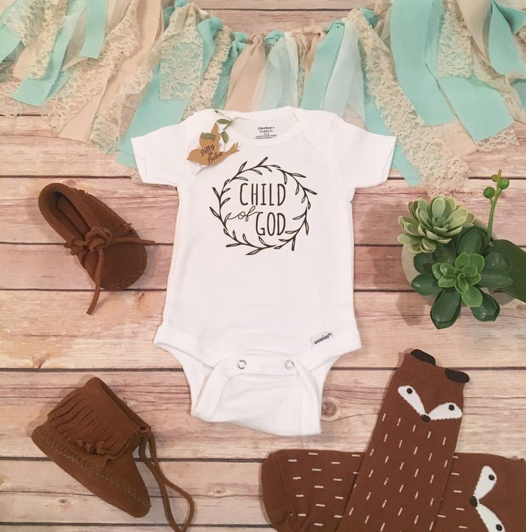 Child of God Baby Onesie®, Religious Baby Gift, Christian Baby Gift, Baby Shower Gift, Unisex Baby Gift, Cute Baby Clothes, Baby Announce by BittyandBoho on Etsy https://www.etsy.com/listing/272347416/child-of-god-baby-onesie-religious-baby