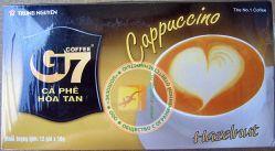КАПУЧИНО - Trung Nguyen Coffee G7 Cappuccino Hazel Nut - быстрорастворимый вьетнамский ореховый кофе капучино - 12 пакетиков в упаковке - 216 гр. Вьетнам.