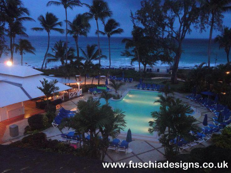 Turtle Beach Resort in Barbados at Night.  By www.fuschiadesigns.co.uk.