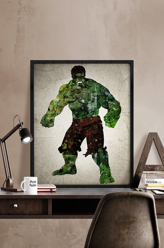 Hulk poster, The Hulk print, Superhero posters, Marvel prints, Art, Heroes Illustrations, Abstract, Wall art, Artwork, Comic poster, Gift