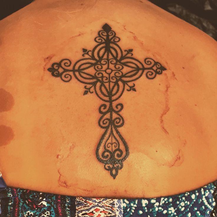 Cross tattoo for women! Love  #cross #tattoo #women