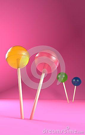 Candy Lollipops Invitation Card - (C) Celia Ascenso 2016