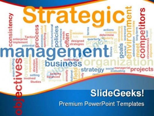 Strategic Management Business PowerPoint Template 0810  Presentation Themes and Graphics Slide01