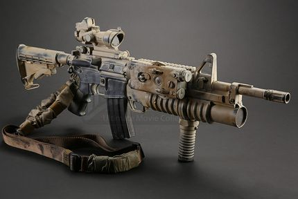 Tonys (Reynaldo Gallegos) Stunt M4A1 Carbine with M203 Grenade Launcher | Prop Store - Ultimate Movie Collectables