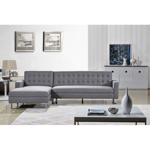 Style Of US Pride Furniture Dorris Fabric Contemporary Left Chaise Sectional Sofa set Grey Simple Elegant - Lovely Sectional Fabric sofas HD