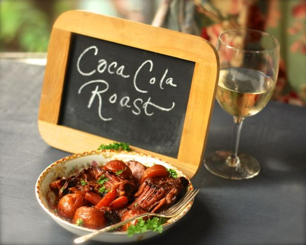 Cola Roast...I would probably have to leave out the chipotle powder and make a few other tweaks for Louie, but otherwise this sounds like it might be good..