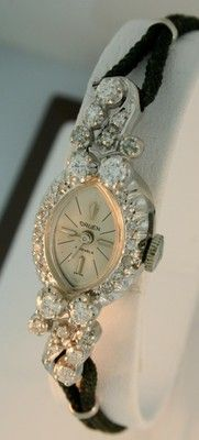 Gruen Vintage 14k White Gold All Diamond RARE Ladies Watch | eBay
