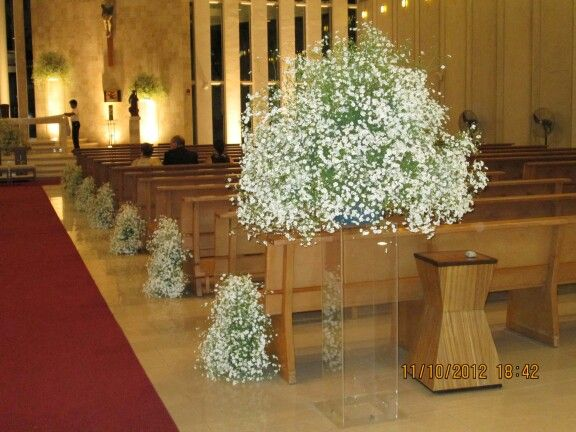 9 best images about flores iglesia boda on pinterest for Como hacer adornos con plantas naturales