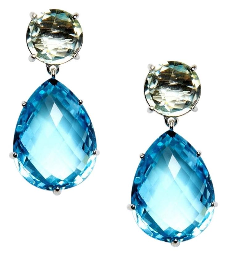 Anzie ANGELINA GREEN AMETHYST AND BLUE TOPAZ EARRINGS