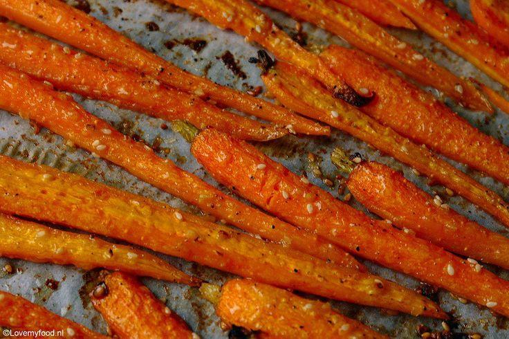 Geroosterde wortels met honing en sesamzaadjes 3