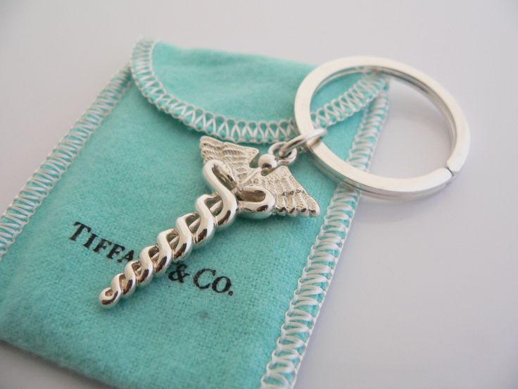 Beautiful Tiffany & Co. Keychain. Great idea for grad nursing students or nurses!