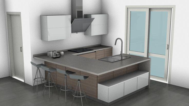 Cucina Scavolini penisola a ferro di cavallo #kitchen #design #soluzioneperfe...