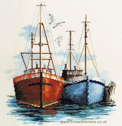Fish Quay Cross Stitch Kit from Derwentwater Designs
