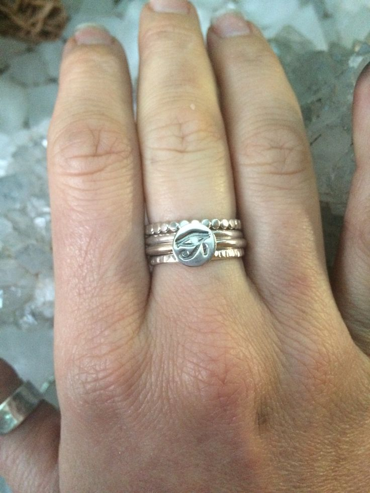 The eye of Horus The eye of horus ring features the eye symbol stamped onto a…