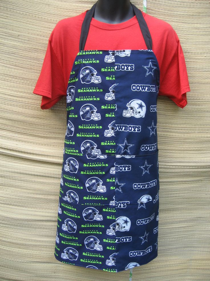 Seahawks/Cowboys, Patriots/Yankees, Chargers/49ers, Washington State/Seahawks, Marines/Dodgers  Adult BBQ Aprons by Tammysaprons on Etsy
