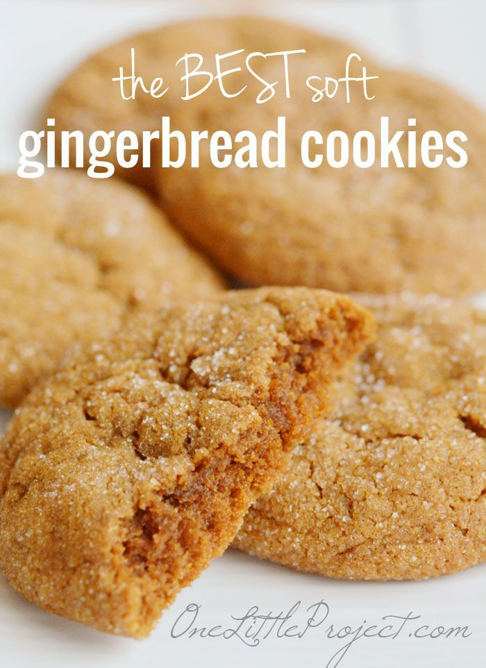 The BEST Soft Gingerbread Cookies