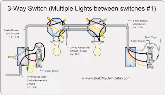 3 Way Switch Multi Light Wiring Diragram 110volt