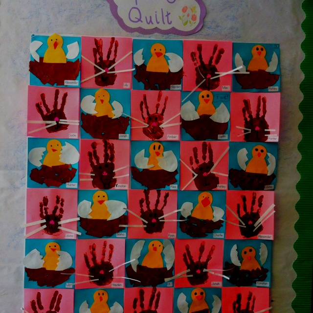 Classroom Quilt Ideas : Spring classroom quilt great for easter too