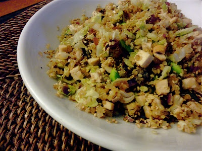 Warm Quinoa Salad w/ Tofu, Shiitakes and Cabbage | Craves | Pinterest ...