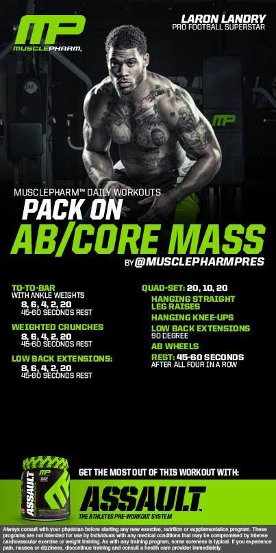 Abs Core Mass #musclepharm workout